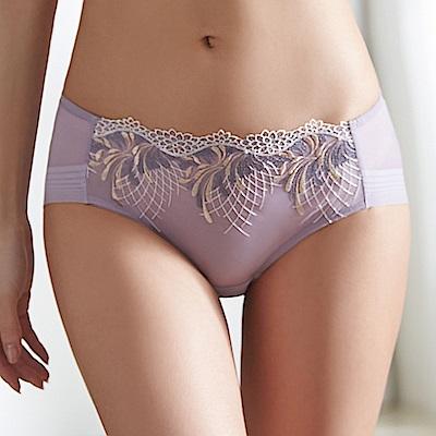 蕾黛絲-歐若拉V真水搭配平口內褲 M-L(絲絨紫)
