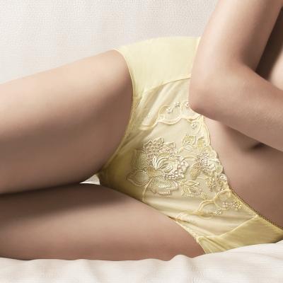 莎露 華麗蕾絲系列-M-LL 平口內褲(黃綠)