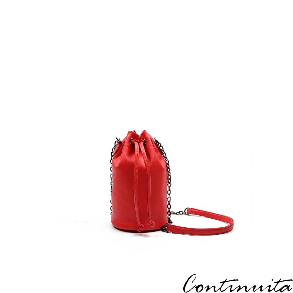 Continuita 康緹尼 頭層牛皮日本隨身律感斜背包-紅色