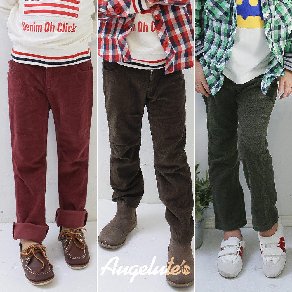 【baby童衣】帥氣百搭條絨型靴褲男童長褲 35081