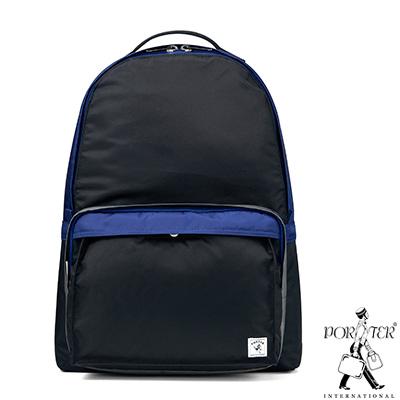 PORTER-放色時尚PLAY簡約休閒後背包-M-黑-藍
