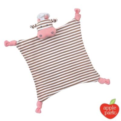 美國 Apple Park 農場好朋友系列 有機棉安撫巾 - 廚師小牛