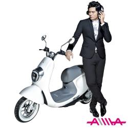 【AIMA愛瑪】 麥 48V鉛酸 LED光圈 高性能減震 搭配智能防盜 電動自行車 白