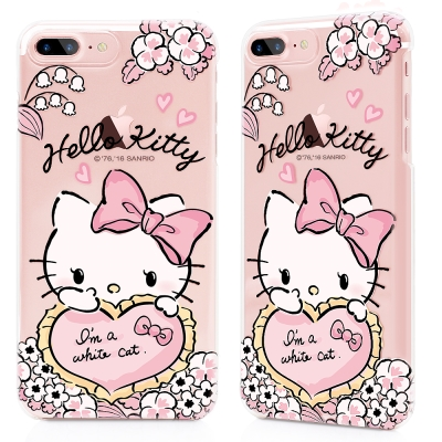 GARMMA Hello Kitty iPhone 8+7+ 硬式保護殼 粉紅戀...