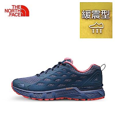 The North Face女款藍色舒適透氣跑步鞋
