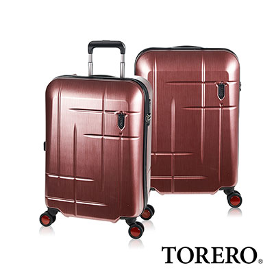 日本TORERO 19吋 霧面紅拉絲  專利排水設計 防水商務箱/登機箱