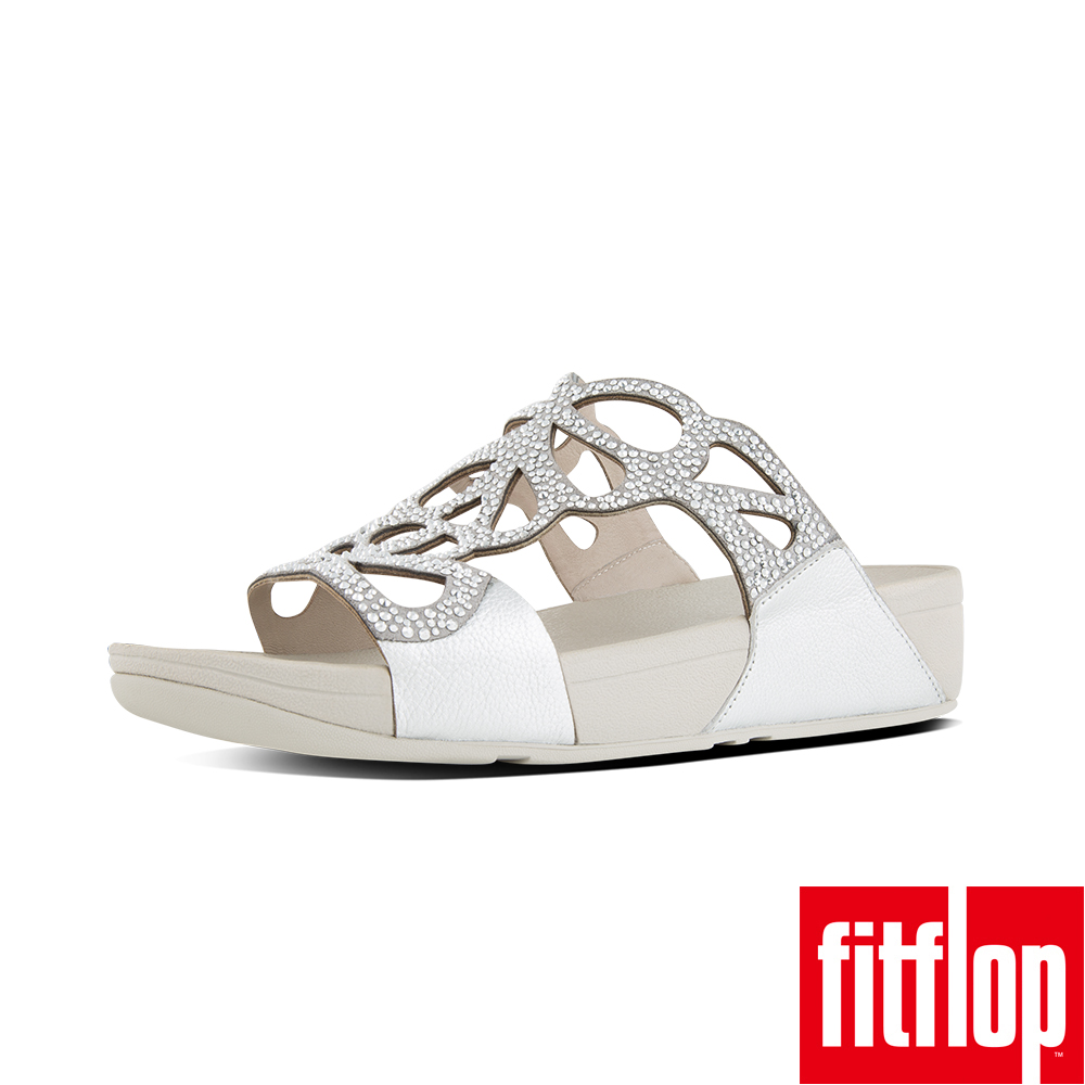 FitFlop BUMBLE CRYSTAL SLIDE-銀色
