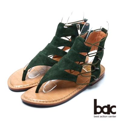 bac流行品味 搶眼設計羅馬涼鞋-綠