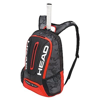 HEAD Tour Team系列 球具球拍專用後背包-黑紅 283148