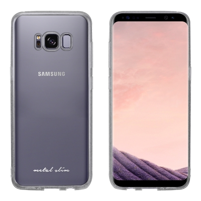 Metal-Slim Samsung GALAXY S8+ 時尚超薄TPU透明軟...