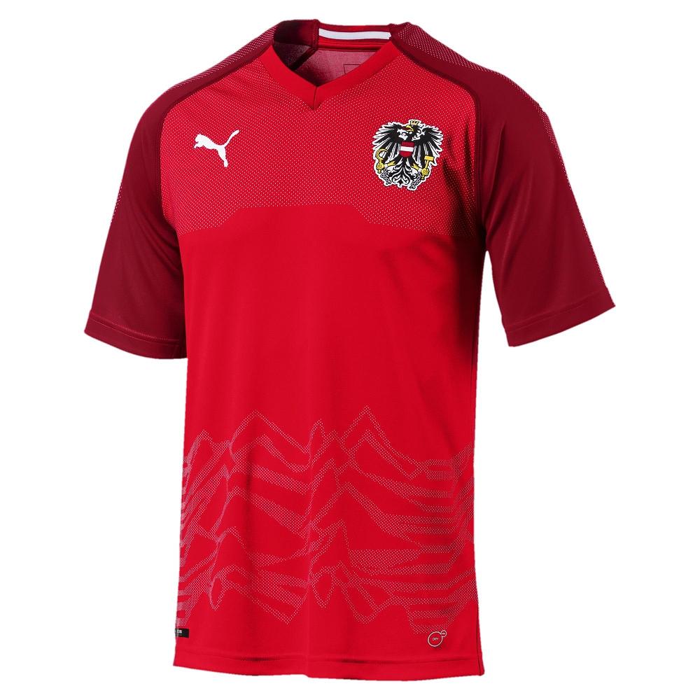 PUMA-足球系列國家概念短袖球衣-奧地利(M)