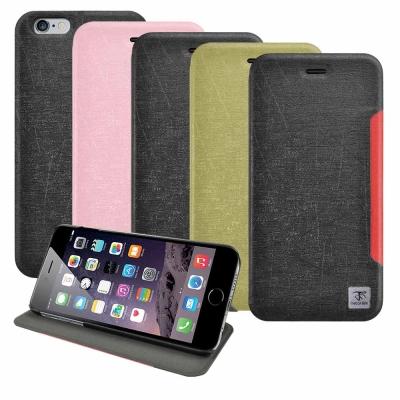 Metal-Slim Apple iPhone 6 5.5 前卡槽設計撞色皮套