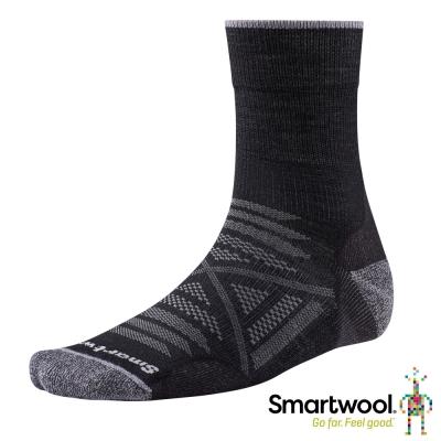 SmartWool 羊毛襪 PhD戶外輕量減震中長襪 黑