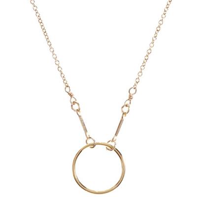 【Dogeared】美國品牌 KARMA 小金色圓形圓滿項鍊