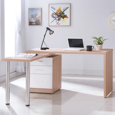 Bernice-凱希4.9尺多功能旋轉/工作桌(雙色)-146x60~146x78cm