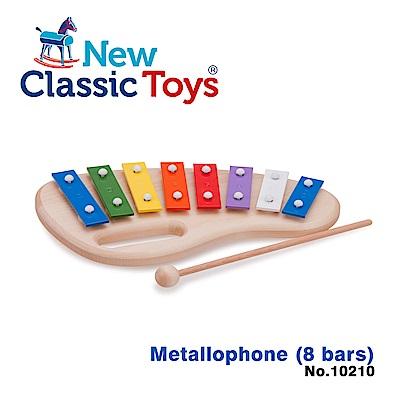 【荷蘭New Classic Toys】幼兒8音彩虹敲敲鐵琴 - 10210
