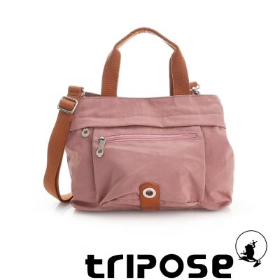tripose 微旅系列輕旅機能後背斜背包 粉膚