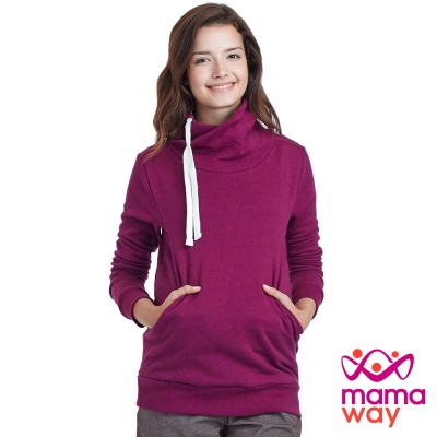 Mamaway 圍裹寬高領孕婦裝.哺乳衣(共三色)