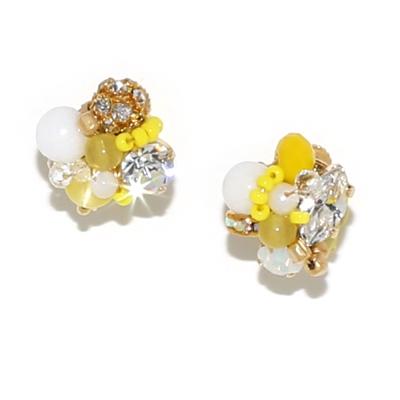 Luce Costante Petit系列石英石不對稱耳環(耳扣式)