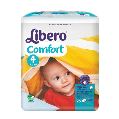 Libero麗貝樂 黏貼式嬰兒紙尿褲(4號L)(26片 / 包)