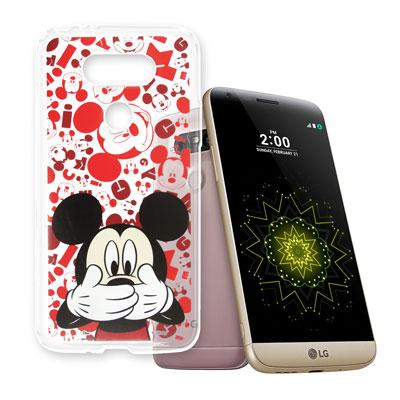 迪士尼  LG G5 / H860 大頭透明手機軟殼(摀嘴米奇)