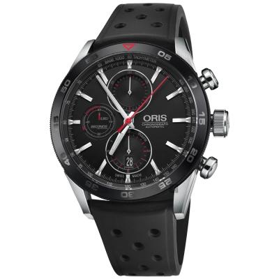oris豪利時 ARTIX GT計時機械錶-黑/44mm
