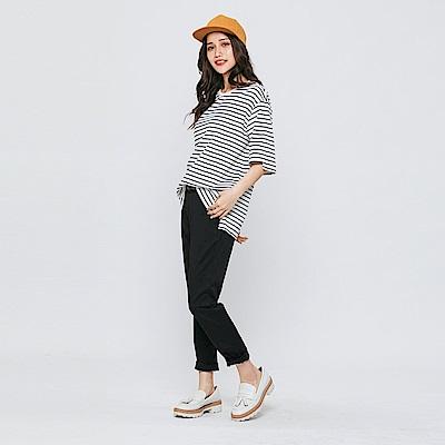 Hang Ten - 女裝 - 造型腰帶修身長褲-黑色