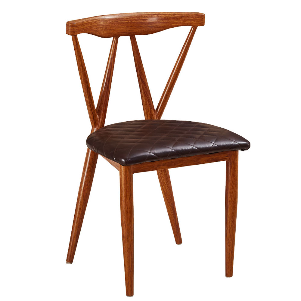AT HOME - 卡朋鐵藝餐椅(兩色可選) 43x43x77cm