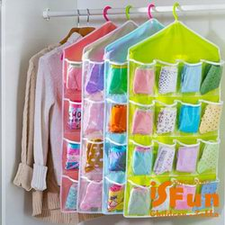 iSFun 居家收納 衣物雜貨16格掛袋 二色