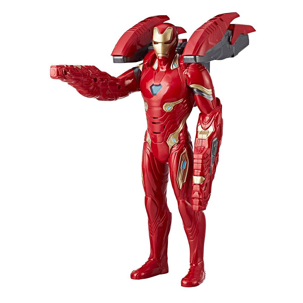 孩之寶Hasbro 漫威 復仇者聯盟3 無限之戰 電影14吋電子聲光重武裝鋼鐵人 E05