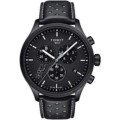 TISSOT天梭 CHRONO XL NBA 馬刺隊特別版計時錶-45mm