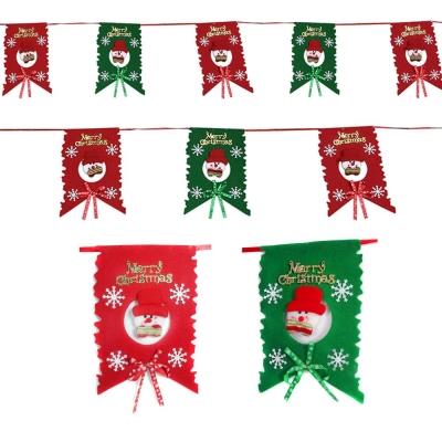 聖誕布旗拉條-紅綠雪人