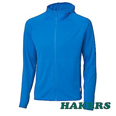 【HAKERS 哈克士】男-抗UV防曬外套-灰藍
