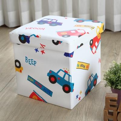 EASY HOME-耐重可摺疊收納椅凳-咘咘車 (38x38x38cm)