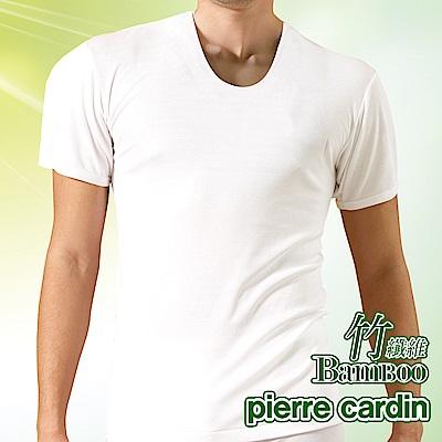 Pierre Cardin皮爾卡登 MIT製竹纖維U領短袖衫-單件