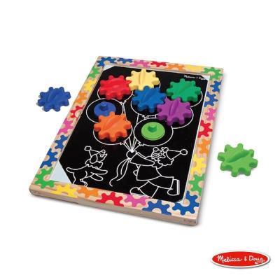 【Melissa & Doug 瑪莉莎】益智 - 10面磁力齒輪遊戲板