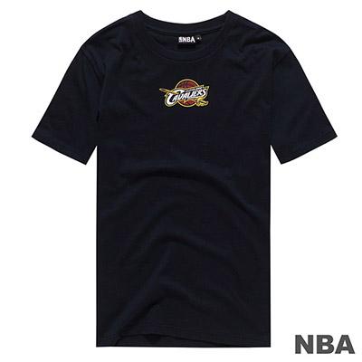 NBA-克里夫蘭騎士隊前後印花短T-深藍 (男)