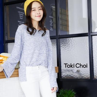 東京著衣 混色棉質寬領T恤(共二色)