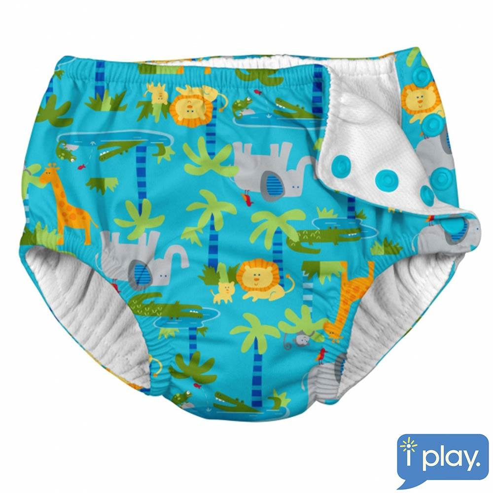 i play森林動物款寶寶泳褲