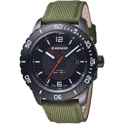 瑞士WENGER Roadster 黑夜騎士時尚腕錶(01.0851.125)綠/45mm