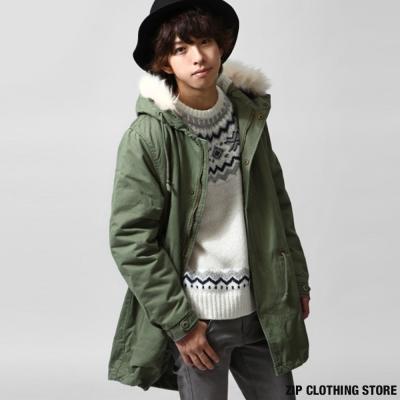 長版M51軍裝大衣-ZIP日本男裝