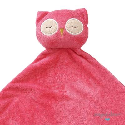 美國 Angel Dear 大頭動物嬰兒毛毯 (粉紅貓頭鷹)