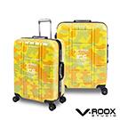 V-ROOX ICE  28吋 黃迷彩 不敗迷彩時尚硬殼鋁框行李箱