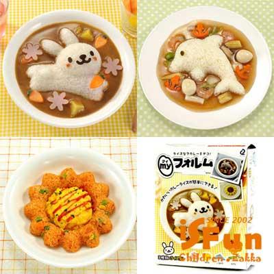 iSFun 動物模具 DIY壽司飯團餅乾4件組