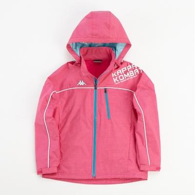 KAPPA義大利小朋友雙層風衣外套(可拆帽)) 櫻桃紅