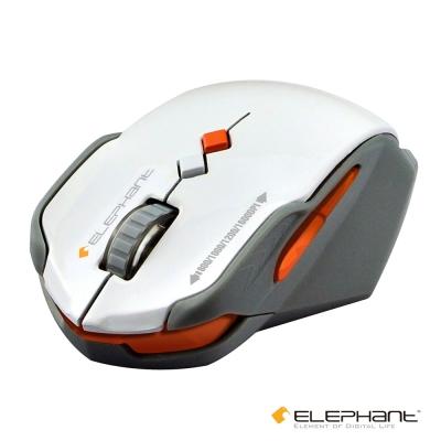 ELEPHANT 鐵武士 靜音藍光無線雷射滑鼠(WEMM516GW)白色