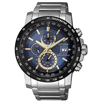 CITIZEN 震撼迎擊光動能電波腕錶-AT8124-83M-43mm