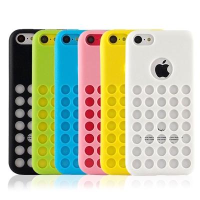 Miravivi iPhone5C 可愛繽紛糖果色系洞洞保護套