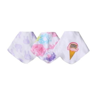 baby童衣-新生兒口水巾-卡通印花三角巾三件組-X3030