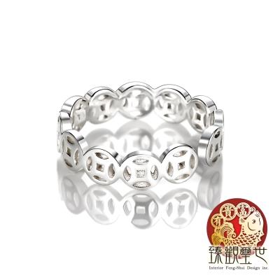 臻觀璽世 純銀銅錢轉運戒指